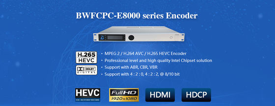 HD / SD Encoder Modulator High Definition H.264 / 265 Video / Audio Encoding BWFCPC-8000